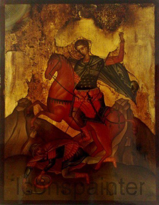 Άγιος Δημήτριος αναπαλαιωμένη Αγιογραφία – ICONSPAINTER