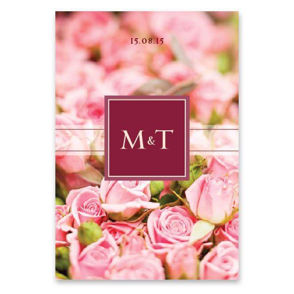 Μοντέρνα Ροζ Τριαντάφυλλα | Ένα μπουκέτο από ροζ τριαντάφυλλα γίνεται ο καμβάς ενός ξεχωριστού, μοντέρνου προσκλητηρίου γάμου 15 x 22 εκατοστών, κατακόρυφης διάταξης για να κοσμήσει τα ονόματά σας. Εκτυπώνεται σε χαρτί της επιλογής σας και συνοδεύεται από ασορτί φάκελο. http://www.lovetale.gr/lg-1292-c1-po.html