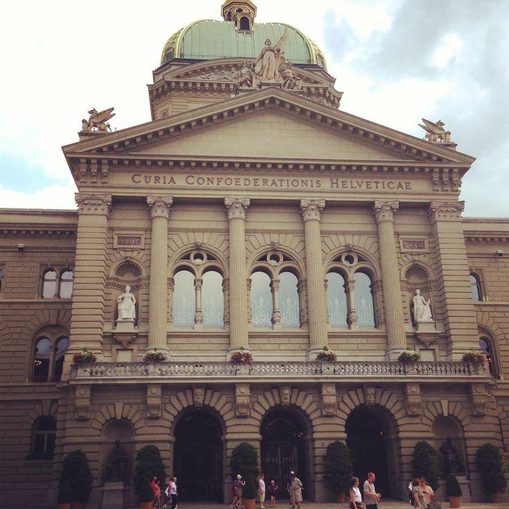 Bundeshaus in Bern Switzerland