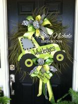Handmade Tractor Grass Wreath
