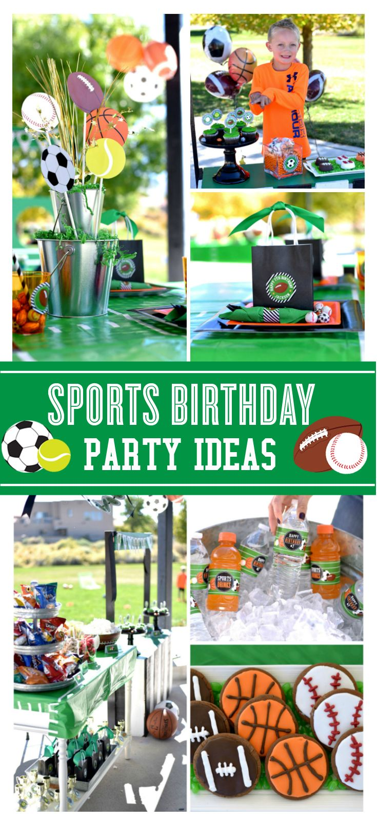 Love these Sports Birthday party ideas