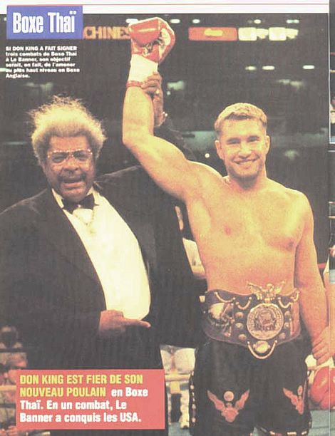 Don King presents WKN Kickboxing World champion Jerome Le Banner in Atlanta, USA. Photo archive (1998)
