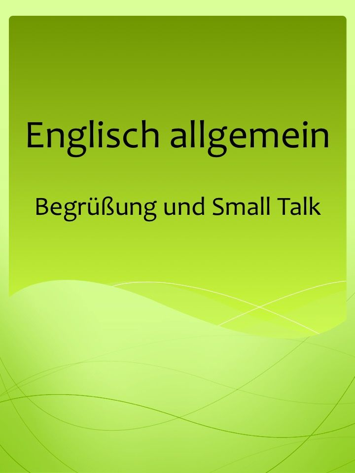 Idioms Welcome, phrases: Business Smalltalk