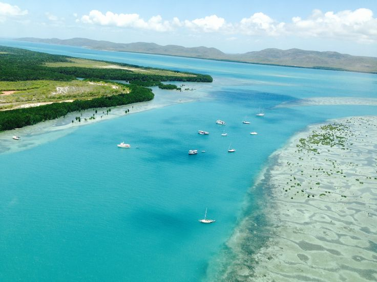 Senior Constable Cheryl Young took these photos from the air over the ocean at Horn Island