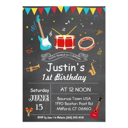 10 best music note invites images on pinterest music lyrics music any age child music birthday chalkboard invitation stopboris Gallery