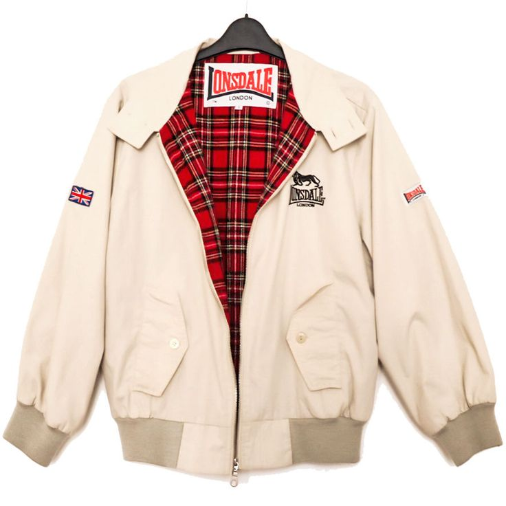 Lonsdale HARRINGTON Bomber Jacket Natural S M 99p Vintage+1990s+1970s+Mod+Punk+Ska+Skinhead+ThisIsEngland+Tan+Small+Men's+Medium+Women's+Fashion+AW16+Style