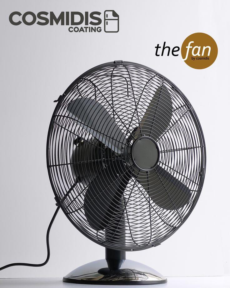 Χρωματιστοί μεταλλικοί ανεμιστήρες με επιλογή από 210 χρώματα! Metal desk & floor fan with 210 colors to choose from! #thefan #cosmidiscoating #blackgrey #deskfan www.cosmidis.com