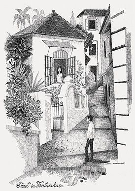 #Mario #Miranda - Street in Fontainhas  Open Editions and Books. Digital print on paper for only Rs. 500 @StoryLTD
