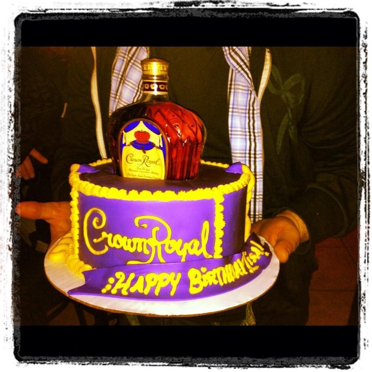 Cake With Crown Royal : Crown royal cake My Cakes and Creations Pinterest ...