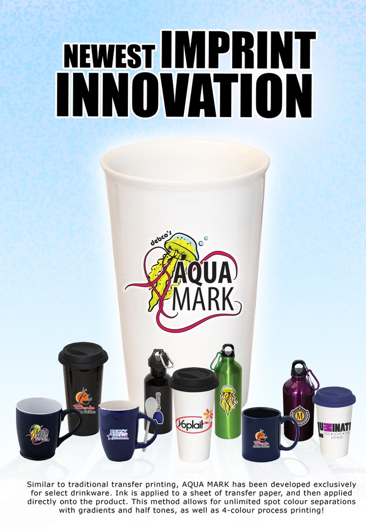 Celebrated for its vivid colours and crisp registration, Aqua Mark provides you with the opportunity to print unlimited spot colours, as well as half-tones and gradients, on glass, porcelain, ceramic, and stainless steel.