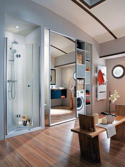 17 meilleures id es propos de porte coulissante miroir for Dressing dans salle de bain humidite