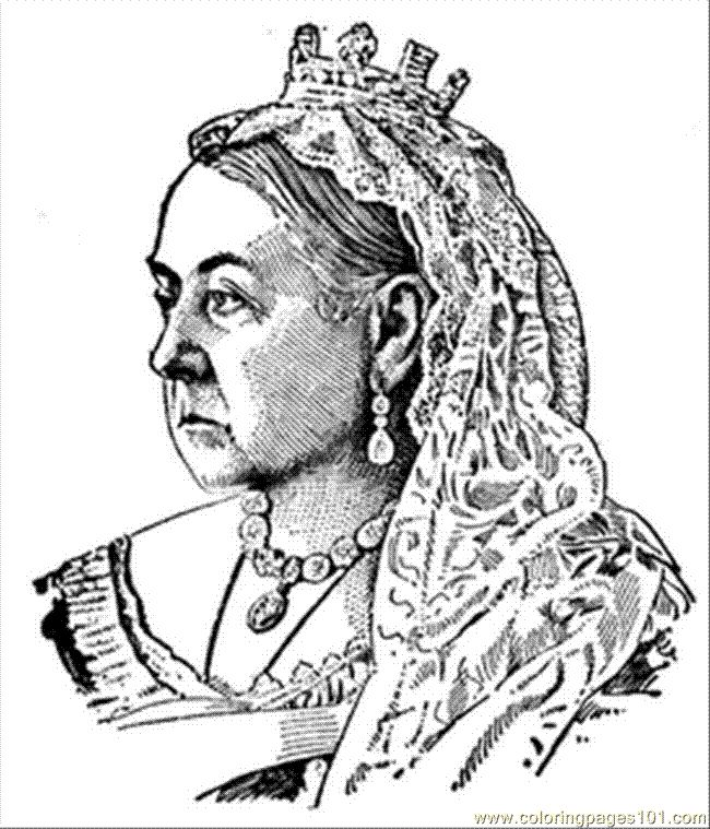 Coloring Pages Queen Victoria : Best images about educational coloring pages for kids