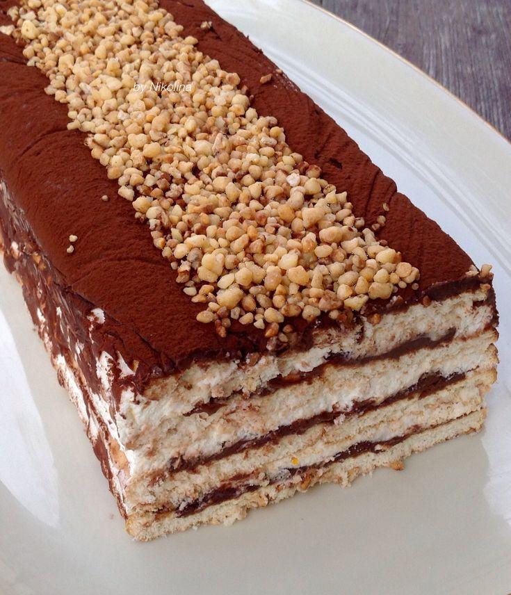 бисквитена торта с нутела и маскарпоне