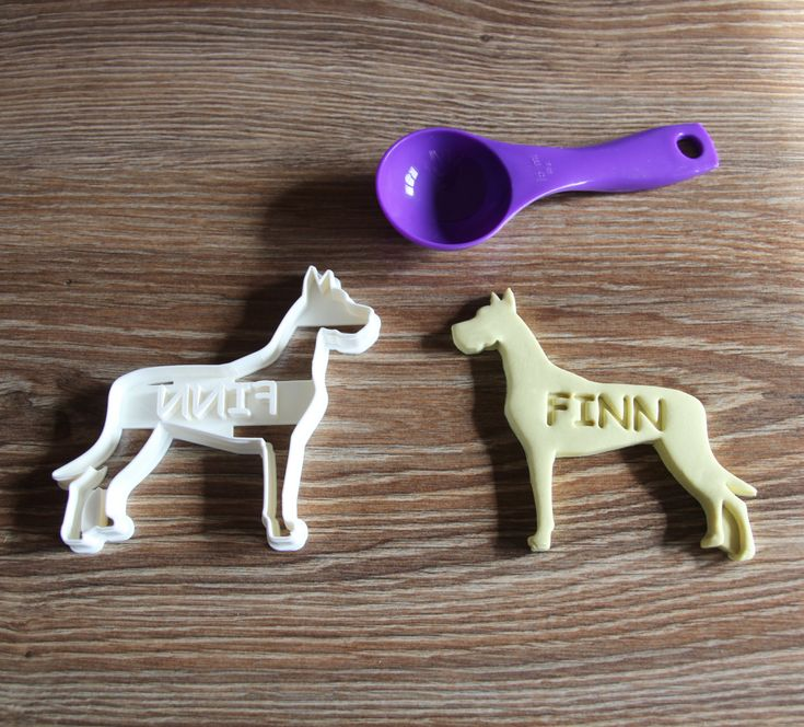 Great Dane Ears Up Cookie Cutter Custom treat Personalized Dog Breed puppy Treat Cutter by CookieCuttersFactory on Etsy