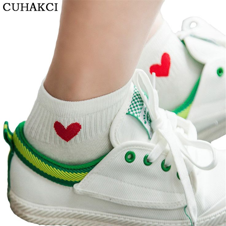Women Socks Winter Fashion Socks Love Heart Dot For Female Sweet Ship Boat Short Sock Thin Ankle Invisible Woman W038