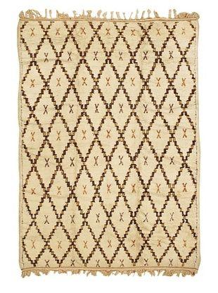 Mili Designs NYC Moroccan Beni Ourain, Cream/Orange/Brown, 5' 8