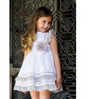 Vestido Blanco Lino