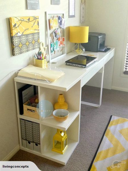 Nz Study Room: IKEA MICKE Desk With Open Shelves And 1 Drawer