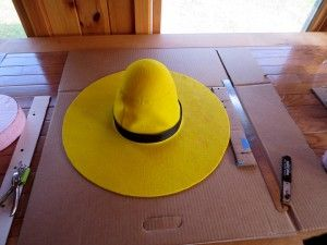 DIY Felt Hat: the man with the yellow hat from curious george - for my son's halloween costume this year, so exited!