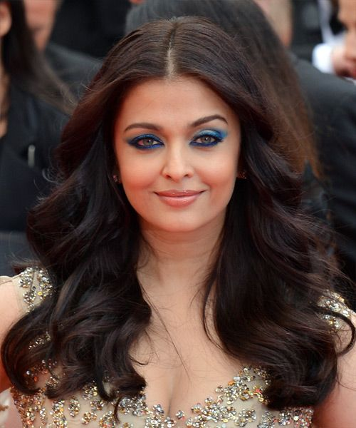 Aishwarya Rai Long Wavy Hairstyle. Try on this hairstyle and view styling steps! http://www.thehairstyler.com/hairstyles/formal/long/wavy/aishwarya-rai