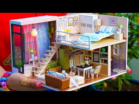 Diy Miniature Doll House Kitchen Cooking Kit Youtube Diy And