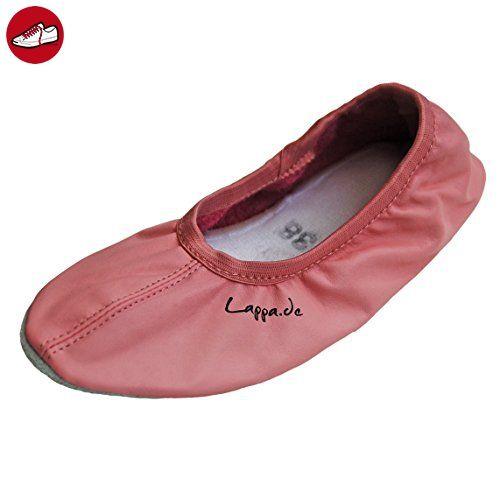 Gymnastikschuhe, Ballettschuhe, Schläppchen, Turnschläppchen, Tanzschuhe mit Gummisohle rosa Art. N244G Gr.33 - Ballerinas für frauen (*Partner-Link)
