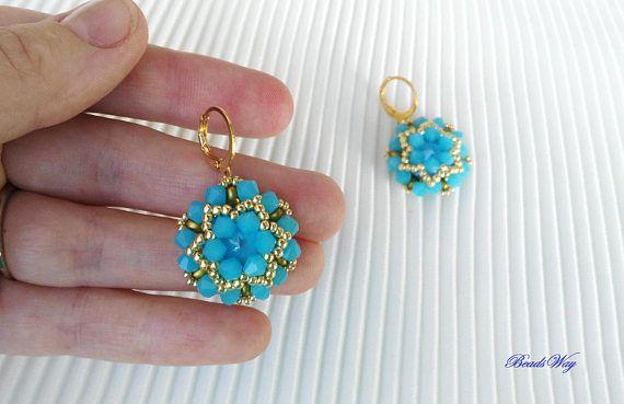 Earrings Peace/Earrings Swarovski/Earrings of