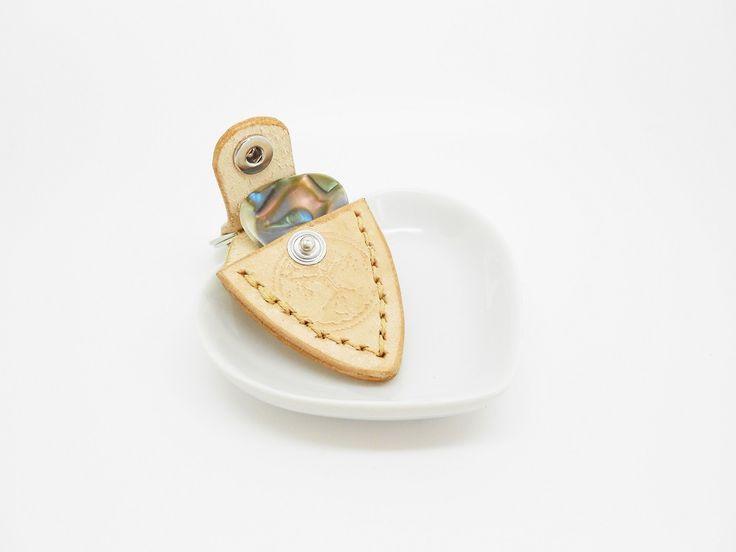 porte-clés cuir porte médiator yggrasil à fermoir