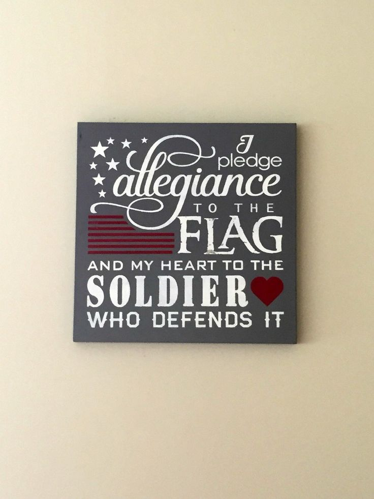 I Pledge Allegiance to the Flag and my Heart to the SOLDIER who Defends it, Handpainted Wood, Wall Decor Sign, Military Signage, by TheCountryNook on Etsy