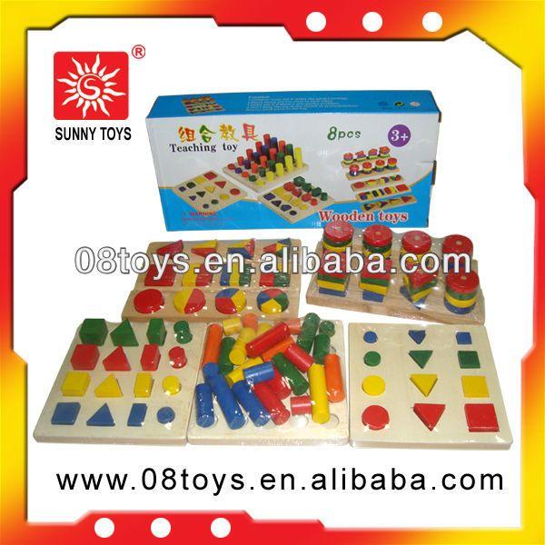 8 В 1 Детские Импортные Вьетнам Деревянные Блоки Игрушка ...