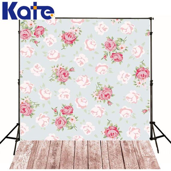 Light Blue Pink Flowers Photography Backgrounds by katehome2014