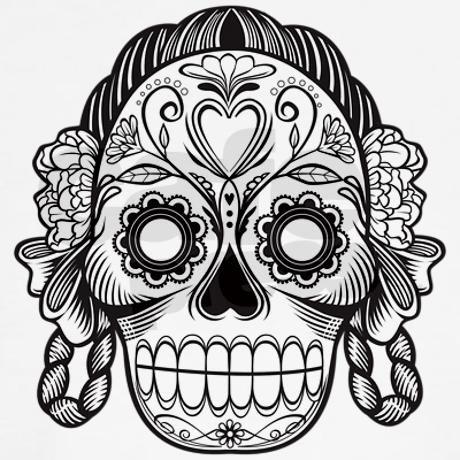 203 best Dia de los Muertos images on Pinterest Coloring books - copy dia de los muertos mask coloring pages