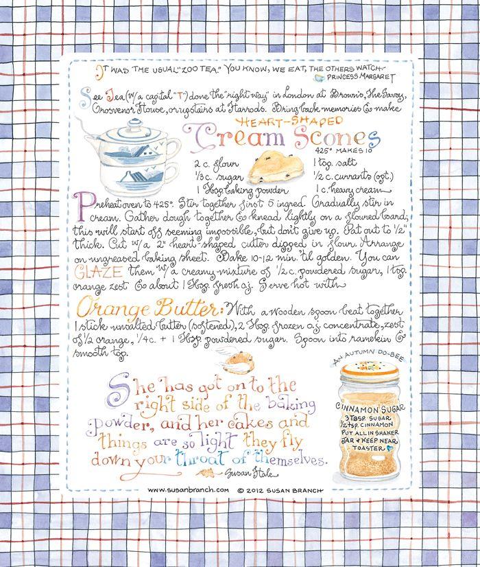 Cream scone Recipe I'd like to try. http://www.susanbranch.com/wp-content/uploads/2012/03/Cream-Scones.jpg