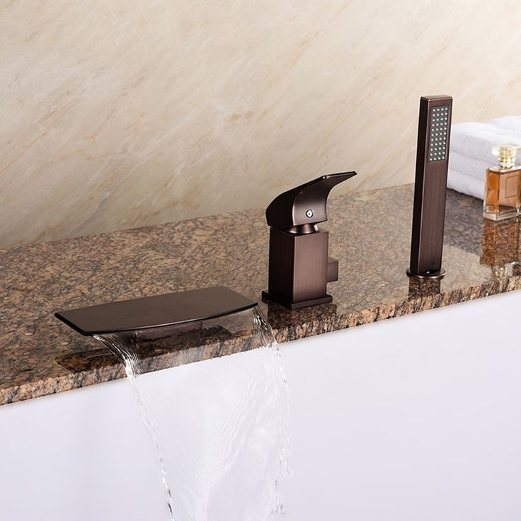 lavelle waterfall roman tub faucet. Waterfall Deck Mounted Oil Rubbed Bronze Roman Tub Faucet Solid Brass with  Hand Shower Best 25 faucet ideas on Pinterest repair