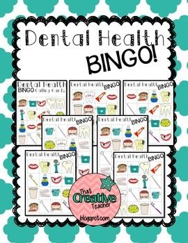 Dental Health BINGO.  Great activity for Children's Dental Health Month in February.