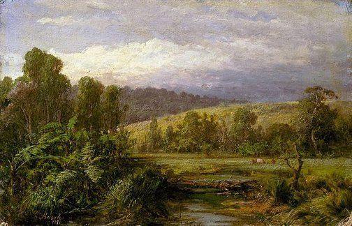 An image of At Dandenong by Louis Buvelot