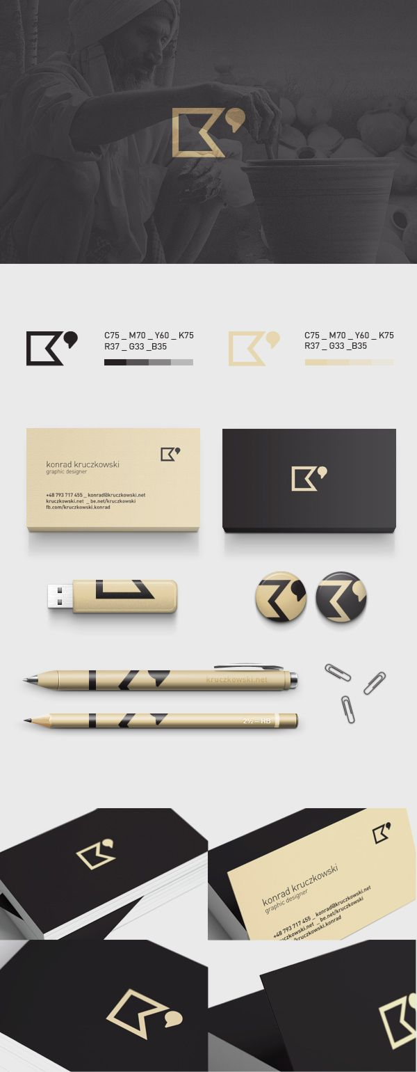 I like this personal branding set because its very consistent, keeping the same colours throughout is very important as people wont recognise it if everything is different.