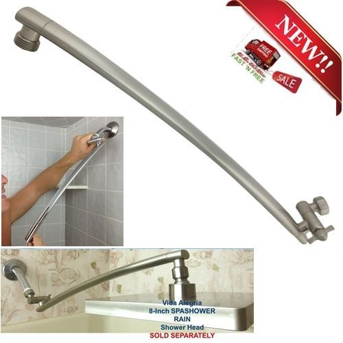 brushed nickel rain shower arm brass adjustable pipe extension bathroom 18 inch vidaalegra