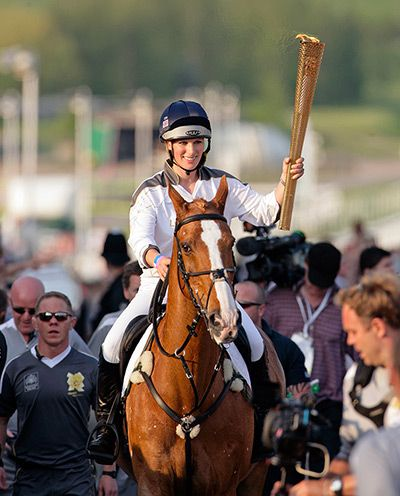 23 May, Cheltenham: Zara Phillips, a member of Britain's Olympic equestrian team,