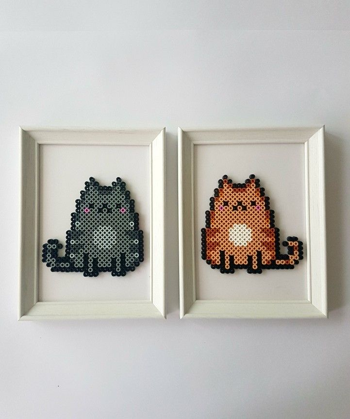 Cats Hama Beads ~Handuşka~