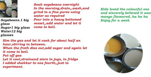 Mercury Information Management Platform: How to make soya milk at home? From the Kitchen of Anita Chahal aunty - Recipe Treasures