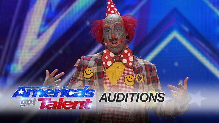 Richie the Barber Circus Clown: Tattooed Clown Scares Simon Cowell - Ame...