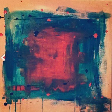 Orange Dimension/Acrylic on canvas