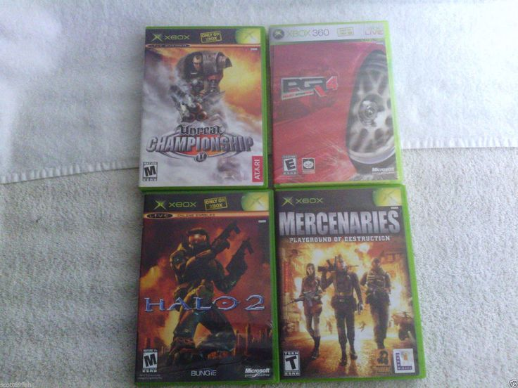 4 Games Halo 2  (Xbox 360, 2004) Bundel Mercenaries,Unreal Championship,PGR4
