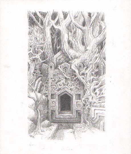 trudvang | Drakar och Demoner Trudvang Originalillustration till Eld och sot…