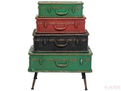 Dresser Suitcase Iron 4 Drawer