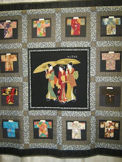PugMom Quilts! I love Asian Themed Quilts especially ones that feature kimono's