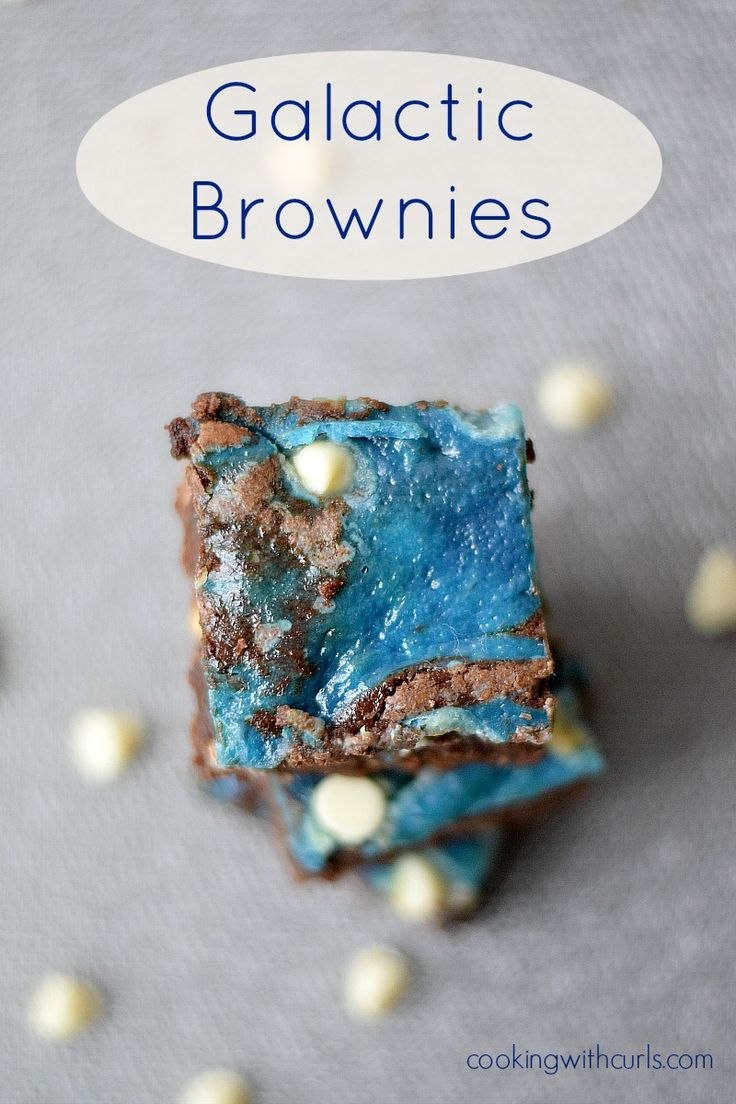 Galactic Brownies - OMG I have to make these and watch some SF movie with friends :)