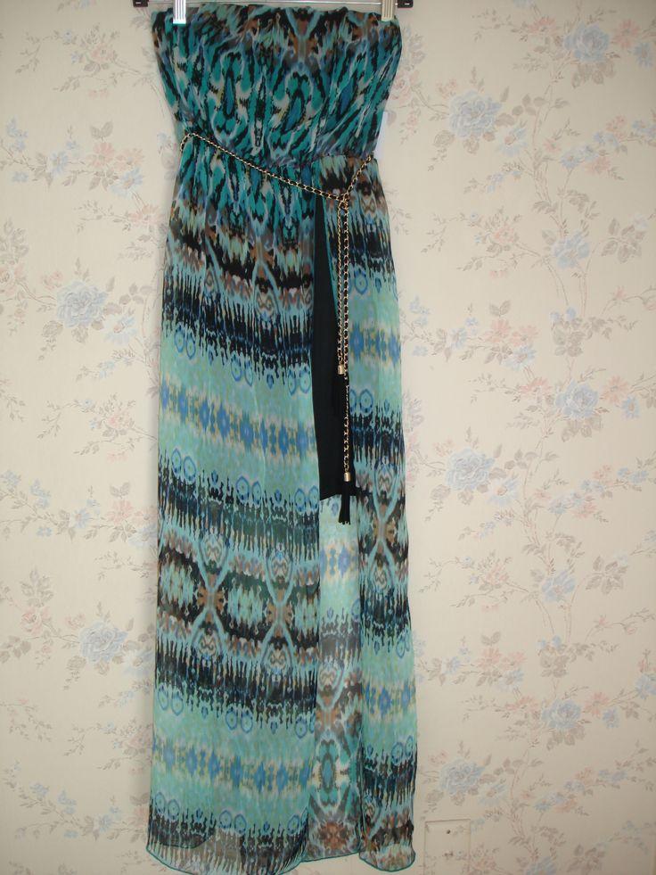 Vestido Charlotte Russe Color azul estampado