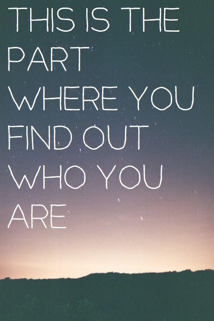 And I Love who I am                                                       …